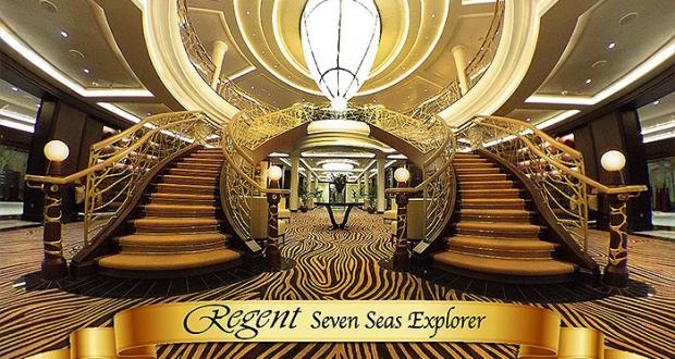 Grand Lobby of the Seven Seas Explorer