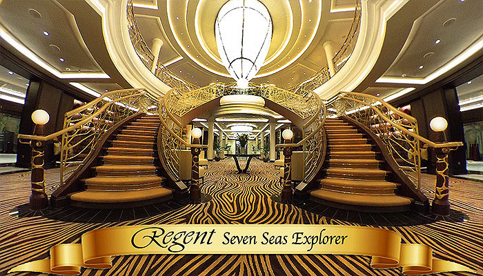 Grand Lobby of the Seven Seas Explorer